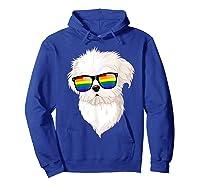 Havanese Face Rainbow Sunglasses Gay Pride Lgbt Tshirt Gifts Hoodie Royal Blue