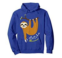 Finger Circle Game Cute Sloth Funny Made You Look Prank T-shirt Hoodie Royal Blue