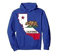 California Bear And Map Cool Gift Shirts Hoodie Royal Blue