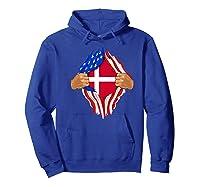 Danish Blood Inside Me T-shirt | Denmark Flag Gift Hoodie Royal Blue