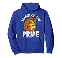 Lion King Adult Simba Leader Of Pride Graphic Shirts Hoodie Royal Blue