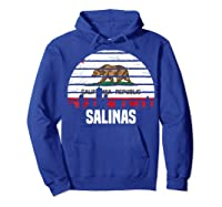 Salinas California T Shirt Ca Group City Silhouette Flag Tee Hoodie Royal Blue