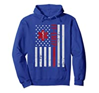 Ff Emtp Firefighter Paramedic Usa Flag Shirts Hoodie Royal Blue