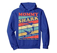 Retro Vintage Mommy Shark Grandma Mather's Day Gifts Shirts Hoodie Royal Blue
