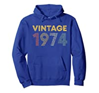 45th Birthday Gift Idea Vintage 1974 Shirts Hoodie Royal Blue