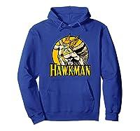 Justice League Hawkman Circle T Shirt Hoodie Royal Blue