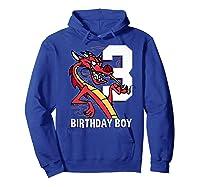Mulan 3rd Birthday Boy Mushu Portrait Shirts Hoodie Royal Blue