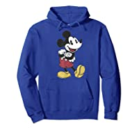 Disney Mickey Mouse Happy T Shirt Hoodie Royal Blue
