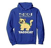 Tacocat Spelled Backwards Taco Cat Tacos Food Shirts Hoodie Royal Blue