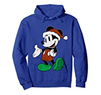 Disney Christmas Mickey Mouse T Shirt Hoodie Royal Blue