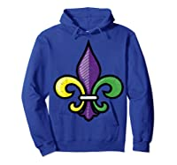 Fleur De Lis Mardi Gras Cute Fat Tuesday Funny Gift Shirts Hoodie Royal Blue
