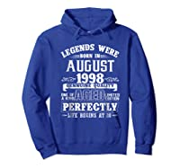 August 1998 20th Birthday Gift Shirt 20 Years Old  Hoodie Royal Blue
