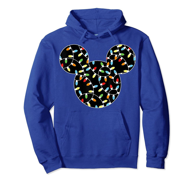 Disney Mickey Christmas Lights T Shirt Unisex Pullover Hoodie