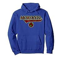 Morocco Team World Fan Soccer 2018 Cup Fan T Shirt Hoodie Royal Blue