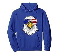 Patriotic Eagle 4th Of July Usa American Flag Sunglasses Premium T-shirt Hoodie Royal Blue