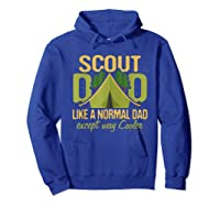 Scout Dad Cub Leader Boy Camping Scouting Gift Shirts Hoodie Royal Blue