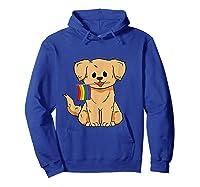 Pride Golden Retriever Dog Gay Lesbian Rainbow Flag Shirts Hoodie Royal Blue