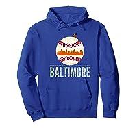 Baltimore Oriole Baseball Tshirt Hometown Skyline Design Premium T-shirt Hoodie Royal Blue