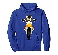 Southerndesigntees Cool Monkey Riding Motorcycle T-shirt Hoodie Royal Blue