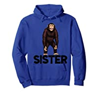 Monkey Sister Animal Jungle Humorous Premium T-shirt Hoodie Royal Blue