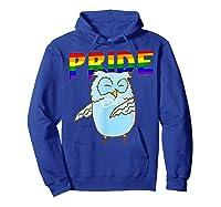 Flossing Owl Lesbian Bisexual Gay Lgbt Pride Gifts Shirts Hoodie Royal Blue
