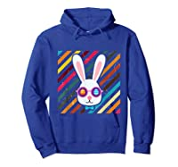 Funny Techno Rabbit Easter Edition Shirt Easter Celebration Hoodie Royal Blue