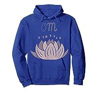 Lotus Flower Meditation Mantra Om In Lavender Pinks Shirts Hoodie Royal Blue