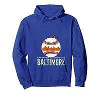 Baltimore Oriole Baseball Hometown Skyline Design Shirts Hoodie Royal Blue