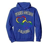 Free Mom Hugs Rainbow Heart Lgbt Pride Month Shirts Hoodie Royal Blue