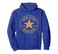 New York City Harlem Nyc Usa United States T Shirt Hoodie Royal Blue