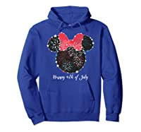Disney Minnie Fire Works T Shirt Hoodie Royal Blue