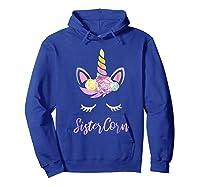 Sistercorn Unicorn Lovers Birthday Gift For Sister Shirts Hoodie Royal Blue