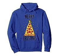 Merry Crustmas Pizza Pizza Lover Christmas Tree Shirts Hoodie Royal Blue