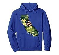 California Camouflage Veteran Pride T-shirt Hoodie Royal Blue