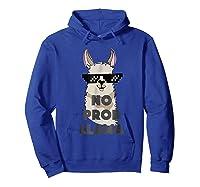 No Prob No Drama Mama Alpaca Corn Shirts Hoodie Royal Blue