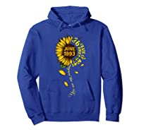 June 1993 26 Years Of Being Awesome Mix Sunflower Shirts Hoodie Royal Blue