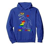 Free Mom Hugs Lgbt Mom Saurus Rainbow Gift Shirts Hoodie Royal Blue