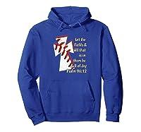 Christian Bible Verse Baseball Shirt Hoodie Royal Blue
