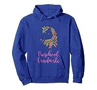 Unicorn Preschool Graduation Shirts Hoodie Royal Blue