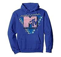 Pink Stripes Logo 90's Retro Design Graphic Shirts Hoodie Royal Blue