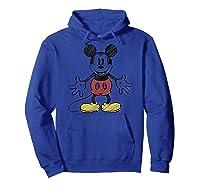 Disney Mickey Mouse Hug T Shirt Hoodie Royal Blue