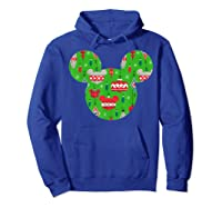 Disney Mickey Christmas Ornats T Shirt Hoodie Royal Blue