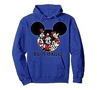 Disney Happy Holidays Group T Shirt Hoodie Royal Blue