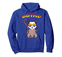 Lgbt Possum Gay Pride Rainbow Lgbtq Cute Gift Opossum Premium T-shirt Hoodie Royal Blue