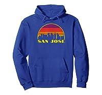 Retro San Jose California Downtown Skyline Vintage Shirt Hoodie Royal Blue