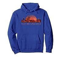 Chicago Skyline At Night T Shirt Chicago T Shirt Hoodie Royal Blue