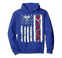 Patriotic American Usa Flag Correctional & Rn Nurse Tshirt Hoodie Royal Blue