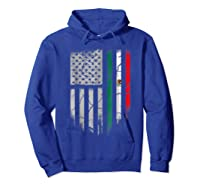 American Raised Mexican Roots Mexican Flag Gift Shirts Hoodie Royal Blue