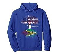 American Heart Guyanese Roots Patriot Usa Guyana Flag Shirts Hoodie Royal Blue