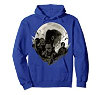Star Wars Last Jedi Rebels Moon Silhouette Graphic T-shirt Hoodie Royal Blue
